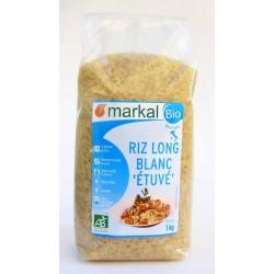 Riz long blanc étuvé bio 1 kg