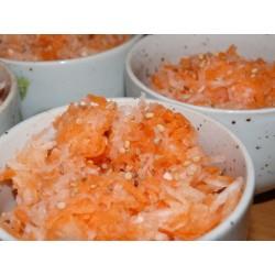 Recette de salade de carotte et radis noir à la japonaise