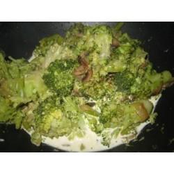 Recette de Brocolis et champignon à la crème