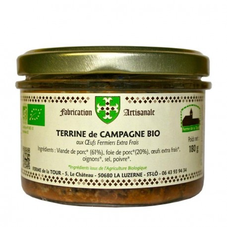 Terrine de campagne Bio 130g