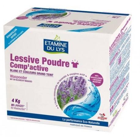 Lessive poudre Comp'active 4 kg Etamine du Lys