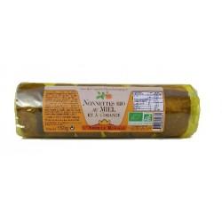 Nonnettes bio au miel fourrées à l'orange 150 g