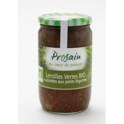 Lentilles vertes aux petits légumes bio 660g
