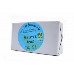 beurre doux pasteurisé bio 250 g