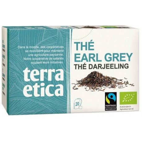 Thé Earl Grey bio 20 sachets x 1.8 g Terra Etica