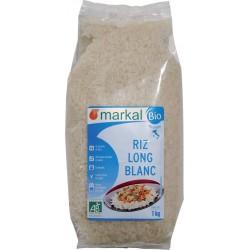 Riz long blanc Italie bio 1 kg Markal