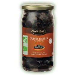 Olives noires au naturel 250g bio