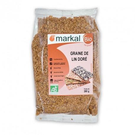 Graines de lin doré bio 250g Markal