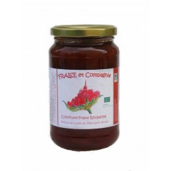 Confiture fraise-rhubarbe 380g bio