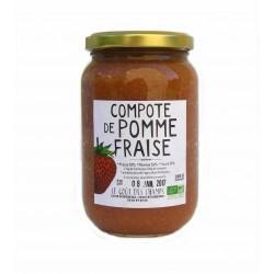 Compote pomme-fraise bio 360 g Le gout des champs