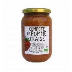 Compote pomme-fraise bio 360 g