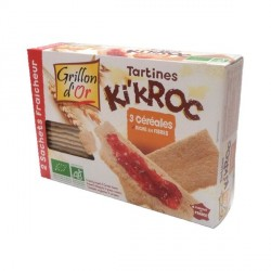 Tartines Ki'Kroc 3 céréales bio 300g