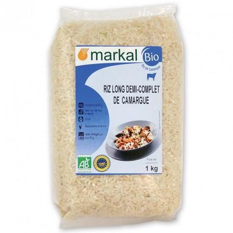 Riz long 1/2 complet de Camargue bio 1 kg Markal