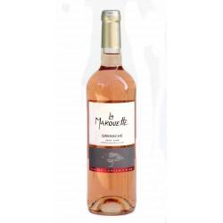 Vin rosé de pays d'Oc bio La Marouette 2017 75 Cl