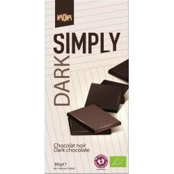Chocolat noir bio 80g Simply Dark