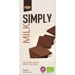Chocolat au lait bio 80g Simply Milk