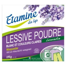 Lessive poudre Comp'active 2 kg Etamine du Lys