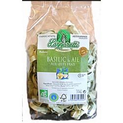 Rubans basilic et ail bio 250g Lazzaretti