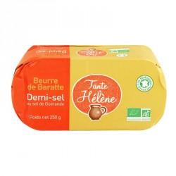 Beurre de baratte bio 1/2 sel 250g Tante Hélène