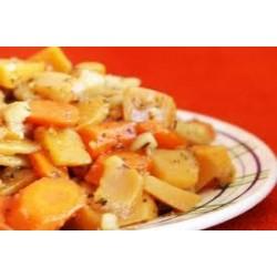 Recette Poêlées navets boule d'or, panais et carottes au miel