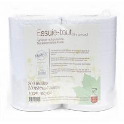 Essuie-tout Ecolabel x2 100% recyclé