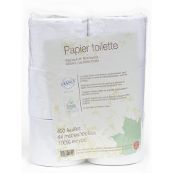 Papier toilette local Ecolabel 100% recyclé