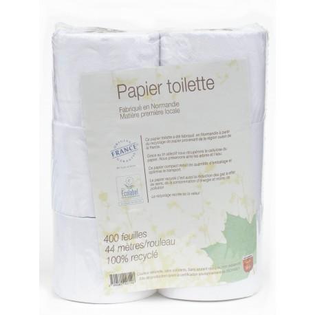 Papier toilette local Ecolabel 100% recyclé