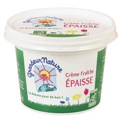 Crème fraîche épaisse bio 20 cl Grandeur Nature