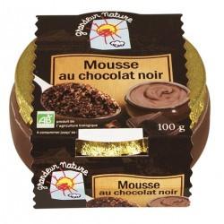 Mousse chocolat noir bio 100 g Grandeur Nature