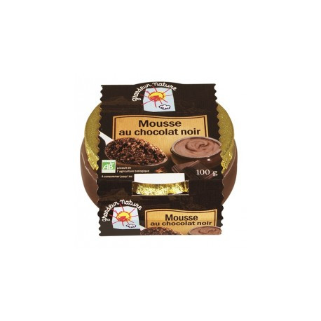 Mousse chocolat noir bio 100g Grandeur Nature