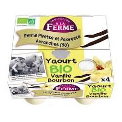 Yaourts bio à la vanille Pivette & Palorette 4 X 125 g