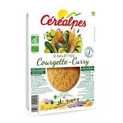 Galettes végétales courgette-curry bio 2 X 90 g