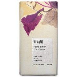 Chocolat noir bio 71% cacao 100 g Vivani