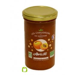 Confiture d'abricot bio 300 g Les Chaudrons de Garonne