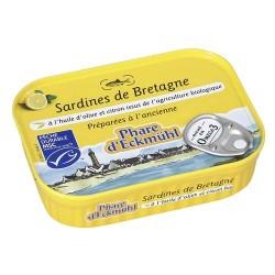 Sardines huile olive et citron 135 g Phare d'Eckmuhl