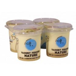 4 yaourts entiers bio 125 g Ferme de la Haute folie