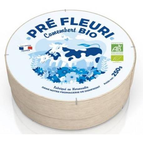 Camembert bio lait pasteurisé 250 g Pré Fleuri
