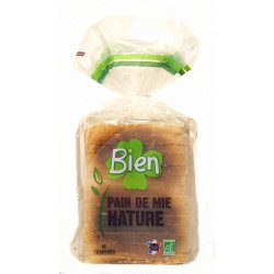 Pain de mie nature bio 500 g 14 tranches