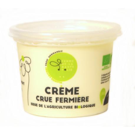 Crème crue bio 25 cl Ferme de la Haute Folie