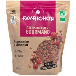 Muesli croustillant framboise chocolat 500 g Favrichon