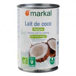 Lait de coco bio 400 ml Markal