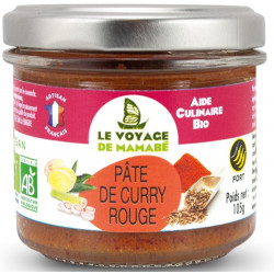 Pâte de curry rouge bio 105 g Le Voyage de Mamabé
