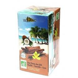 Tisane des iles vanille-canelle-coco bio 45g Valdena