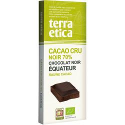 Chocolat cru équateur bio 70% 80 g Terra Etica