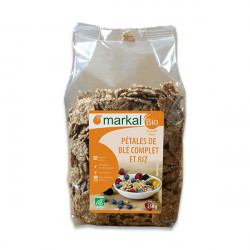Pétales de blé complet et riz bio 250g Markal