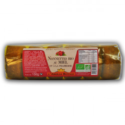 Nonnettes bio au miel et à la framboise 150 g