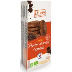Cookies tout chocolat bio 175 g Elibio