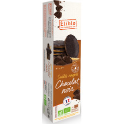 Sablés nappés chocolat noir bio 200 g Elibio