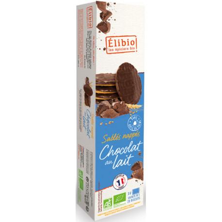 Sablés nappés chocolat lait bio 200 g Elibio
