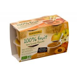 Purée pomme-abricot bio 4x100 g